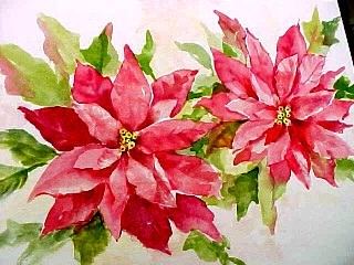 Painting Poinsettias Susie Short s Watercolor Christmas #0: poin2