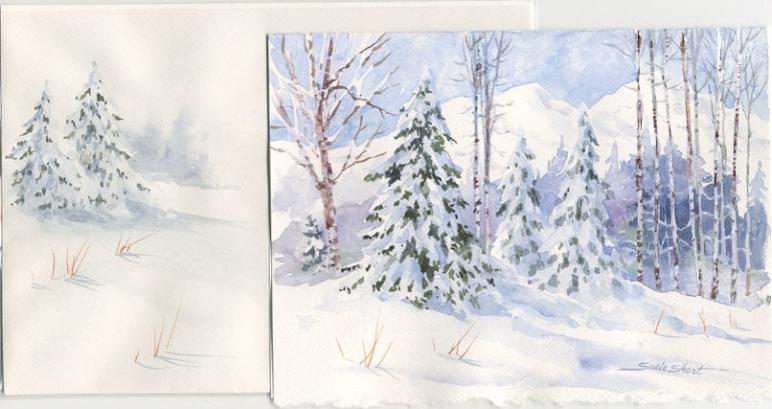 Watercolor Christmas Card Ideas - Design you own Watercolor Cards