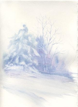Susie Short\'s Watercolor Christmas Card Ideas- for painting cards