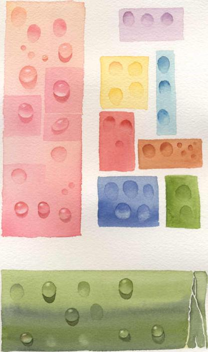 How to paint waterdrops or dew drops in watercolor susie for Watercolor painting classes near me