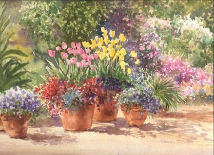 Flower Garden Paintings watercolor gardens - flower garden paintingssusie short