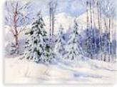 Heavy Snow Landscape Greeting Card