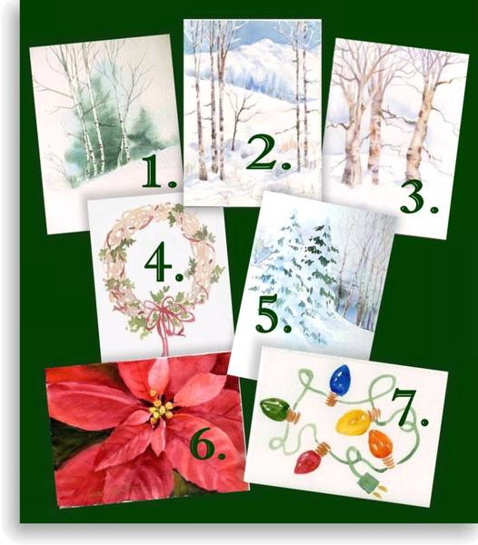 Paint Watercolor Christmas Cards - Susie Short's Holiday Cards DVD